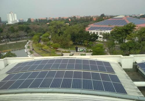 Solar power system 3KW off-grid at HoChiMinh city University of Technology