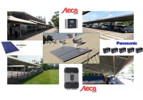 ACE Corp handover the PV system 3KWp stand alone in Vientiane Laos