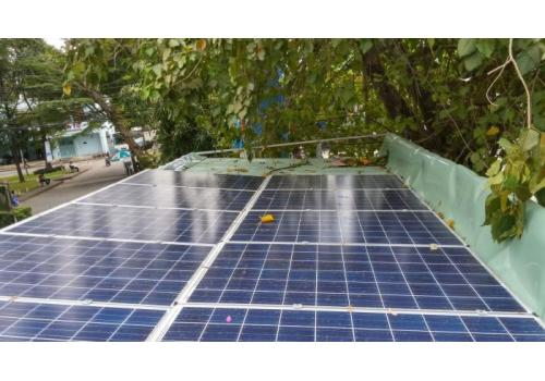 2016-Solar power system 3KW off-grid at HoChiMinh city University of Technology