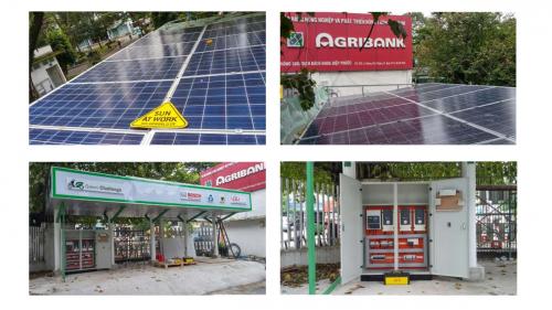 Công trình điện mặt trời Trạm sạc xe điện tại trường ĐHBK TPHCM