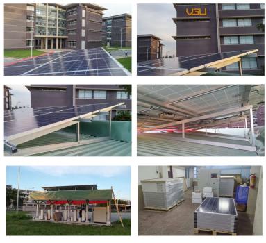 Công trình điện mặt trời Trạm sạc xe Điện tại trường ĐHBK Da Nang